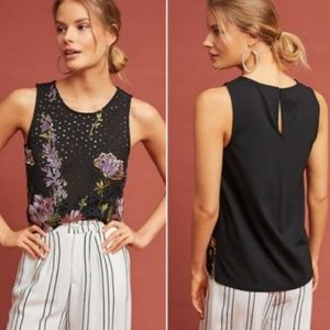 Anthropologie Tops - Anthropologie Meadow Rue embroidered lace tank
